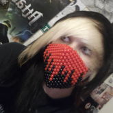 Dripping Blood Kandi Mask