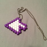 Purple And White Cursor Peyote