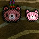 Regular Sized Translucent Gloomy Bear Compared To Mini Pony Bead Gloomy Bear :3