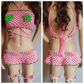 Pink And Rainbow Kandi Outfit
