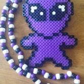 Alien Perler Necklace