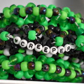 Minecraft Creeper Inspired Epic Rotator Kandi Cuff