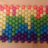 Dripping Rainbow Cuff WIP