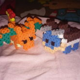 3d Perler Charizard And Blastoise