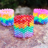 Neon Melted Rainbow Cuffs
