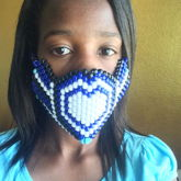 Blue Heartstyle Kandi Mask
