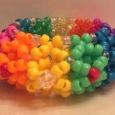 Rainbow 3D Cuff Back
