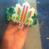 Pot Leaf Bumpy Cuff (Mini Pony Beads)