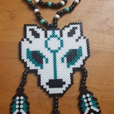 Wolf Dreamcatcher Perler Necklace