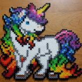 Rainbow Unicorn Perler