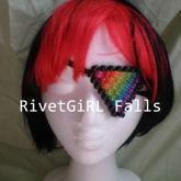 Glitter Rainbow Triangle Kandi Eyepatch