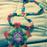 Rainbow Complex Star Necklace