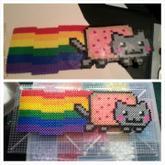 Poorly Done Nyan Cat Perler
