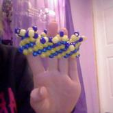 Blue And Yellow Cuff
