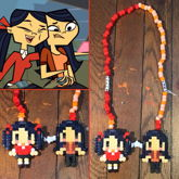 Total Drama Kitty And Emma Necklace