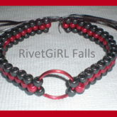 Red/Black O-ring Collar Choker Bondage Kandi Necklace