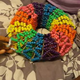 Neon Rainbow Slinky Cuff