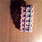 Pink Yellow And Black 2 Row X Bass Cuff