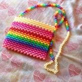 Rainbow Kandi Purse