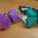 Purple & Teal Butterfly Perlers Doubles