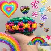 Rainbow 3-D Cuff