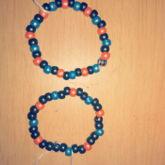 Black Blue Orange Bracelets