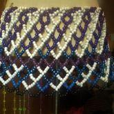 Blue, Black, Purple, & White Plaid Kandi Mini Skirt