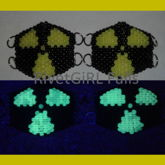 D-ring Radioactive Surgical Kandi Mask Made By RivetGiRL Falls
