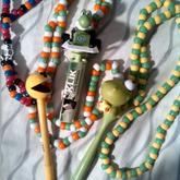 Pacman, Yoshi, And Dino Necklaces