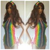 Kandi Body Suit With Matching Kandi Bow
