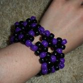 Purple And Black Star Cuff