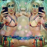 The Kandi Skirt & Bikini-less Kandi Top I Made <3