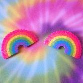 Glittery Rainbow Perlers