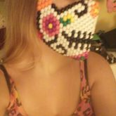 Sugar Skull Mask On Me Side View
