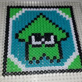 Splatoon Squidling Coaster Lime Green