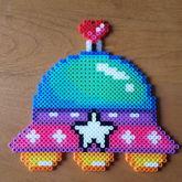 Kawaii Alien Spaceship Perler