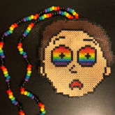 Trippy Morty Perler Necklace