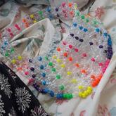 Rainbow Dots Kandi Visor