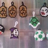 Yoshi Coins, Green Turtle Shell, Boo Ghost, Billy Bullet, Yoshi Eggs And Badge Bandit From Super Mario Bros.