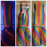 Rainbow Kandi Gown