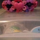 Pink Heart 3d Cuff