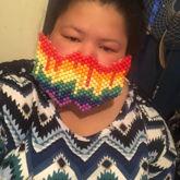 Rainbow dripping Mask