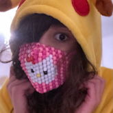 Finished Hello Kitty Mask