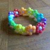 Rainbow Flower Cuff