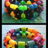 Neon Rainbow And Black X-base Cuffs