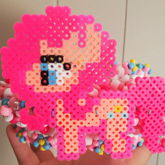 Pinkie Pie Perler Cuff