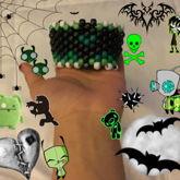 Green Bat Multistitch Cuff
