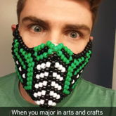 My First Kandi Attempt!!  Reptile Mask