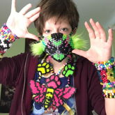 Mask, Necklaces, Cuffs