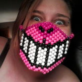 Cheshire Cat Grin Mask